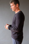 Enchant - Contoured Fit Long Sleeve Travel Tee Black