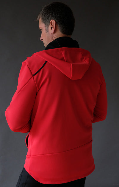 Imagination - Elegant and Artistic Tech Travel Hoody Red