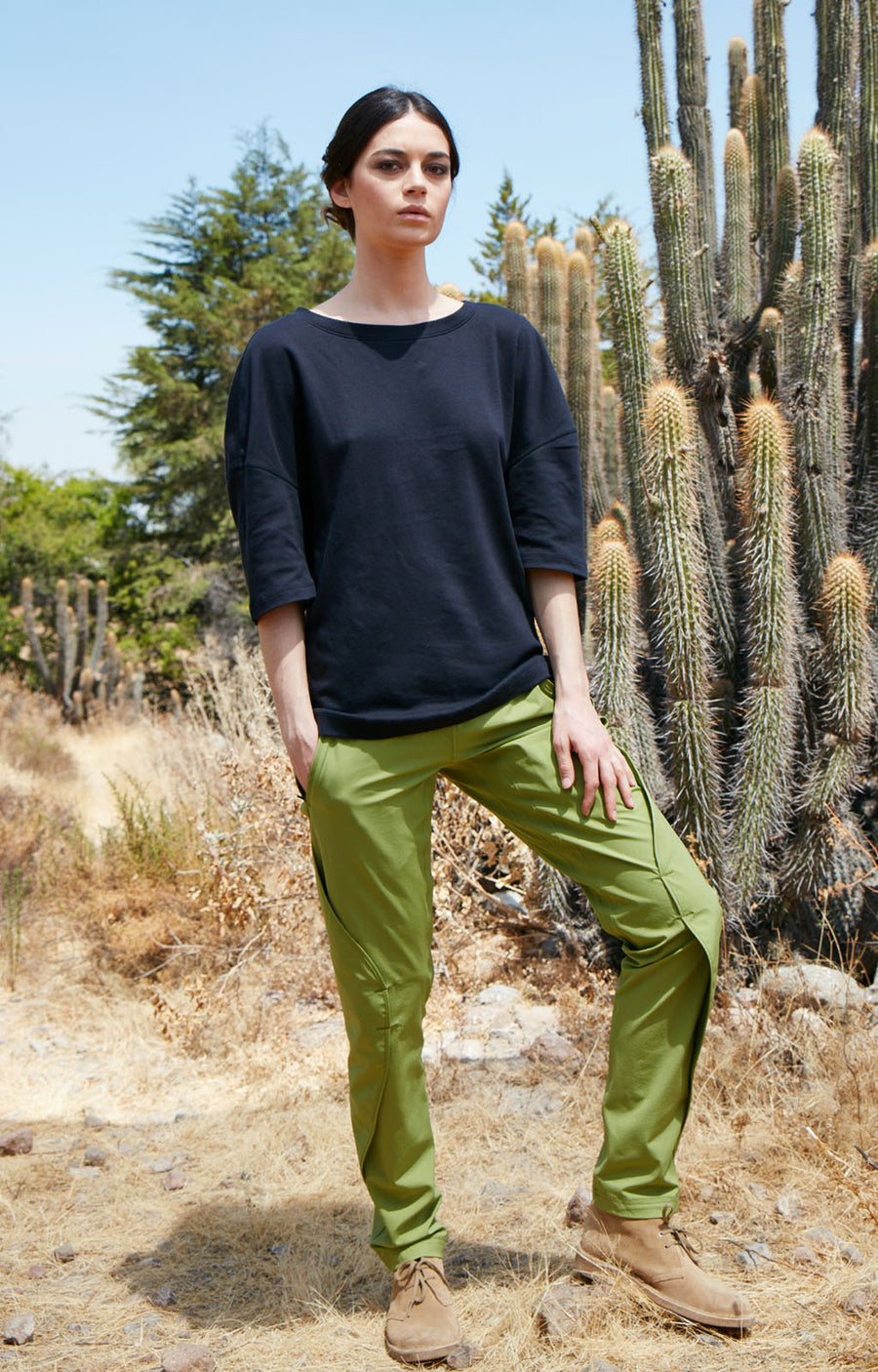 Purity - Travel Pant in Moss Green