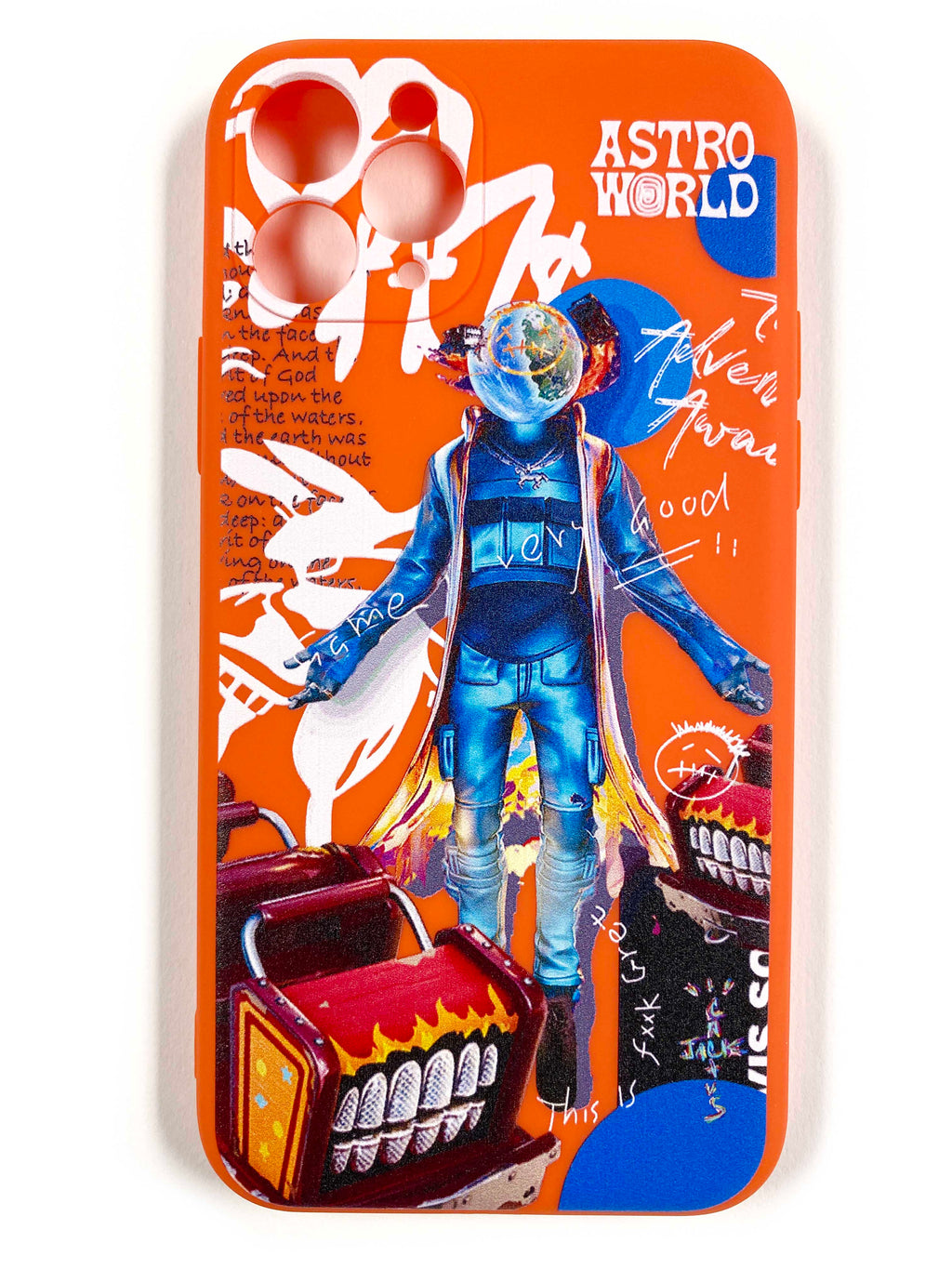 "CaseNerd ""Astro World Orange"" iPhone Case"