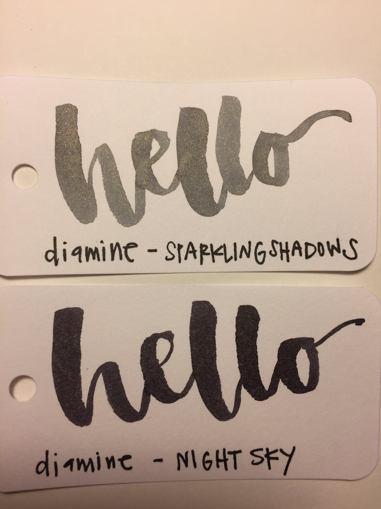 Diamine Night Sky and Sparkling Shadows Review