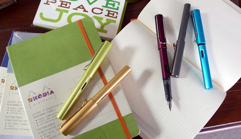 Rhodia Goalbooks and Lamy Al Star