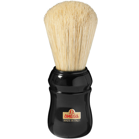 Omega Pure Boar Bristle Plastic Handle Shaving Brush