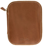 Galen Leather Co. Zippered 10 Slot Pen Case- Brown
