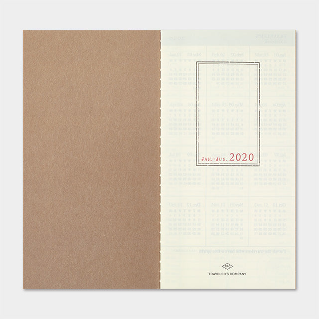 Traveler's Company Traveler's Notebook Refill 2020 Diary- Weekly Vertical