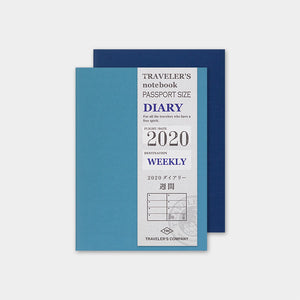 Traveler's Company Traveler's Notebook Refill Passport Size 2020 Diary- Weekly