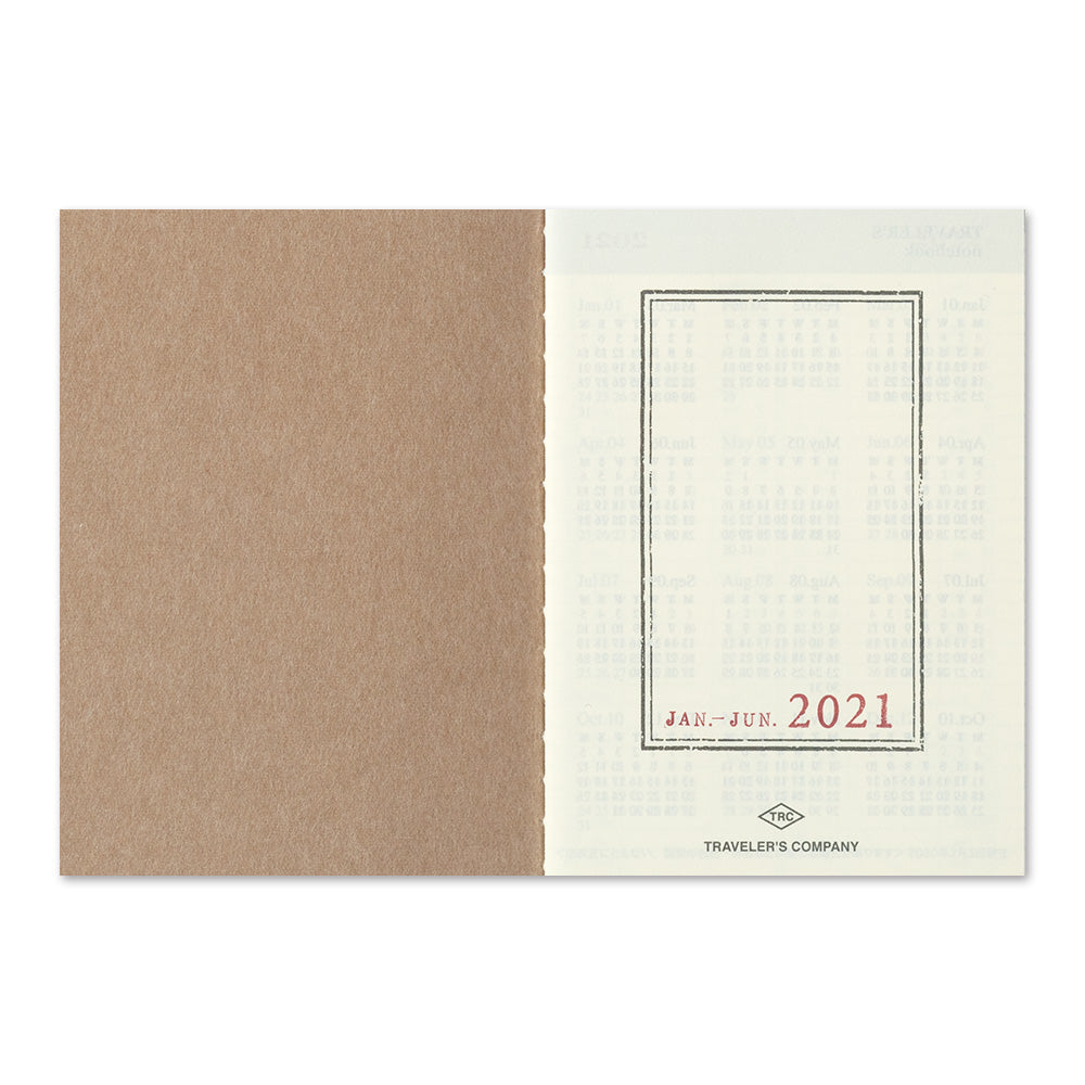 Traveler's Company Traveler's Notebook Refill Passport Size 2021 Diary- Weekly