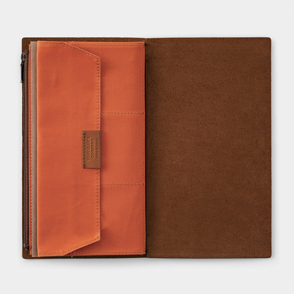 Traveler's Company Traveler's Notebook Cotton Zipper Case- Orange