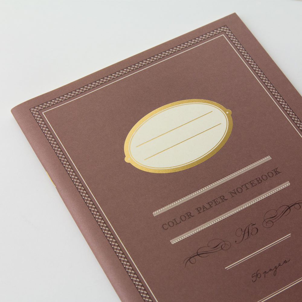 Midori Color Paper A5 Notebook- Brown