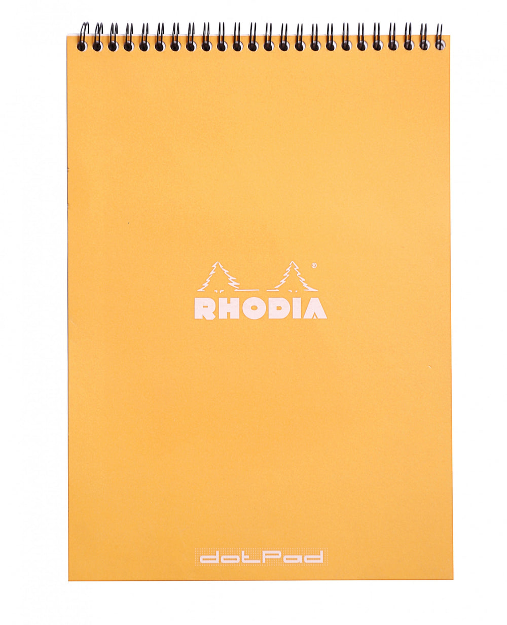 Rhodia #18 Orange Top Wirebound Dot Pad