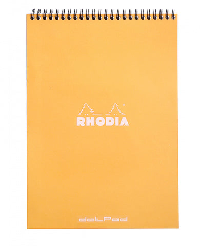 Rhodia #18 Orange Top Spiralbound Dot Pad