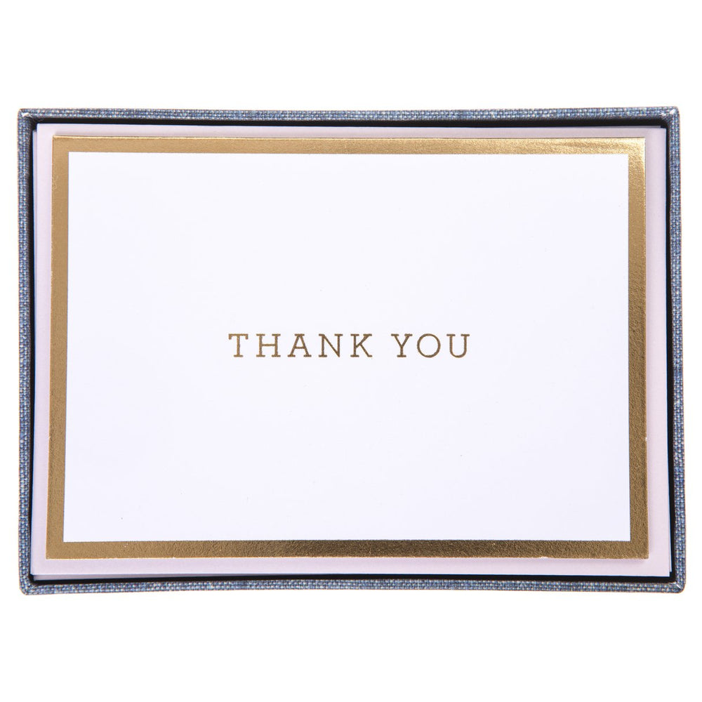 "Graphique Chambray ""Thank You"" Cards"