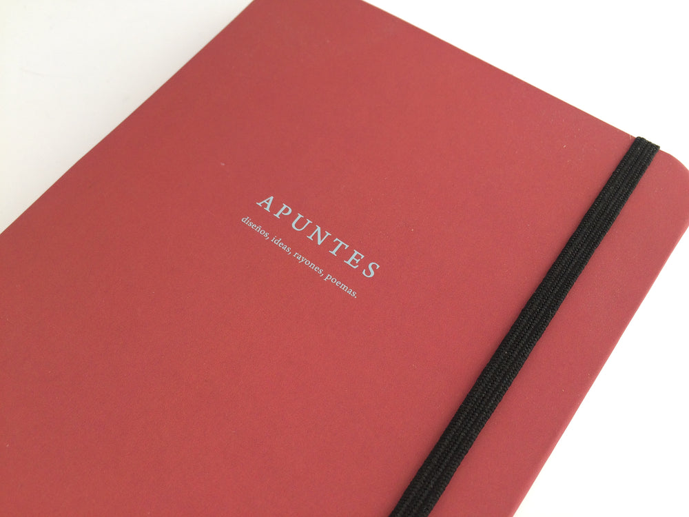 Apuntes Medium Hard Cover Notebook- Chedron/Celeste