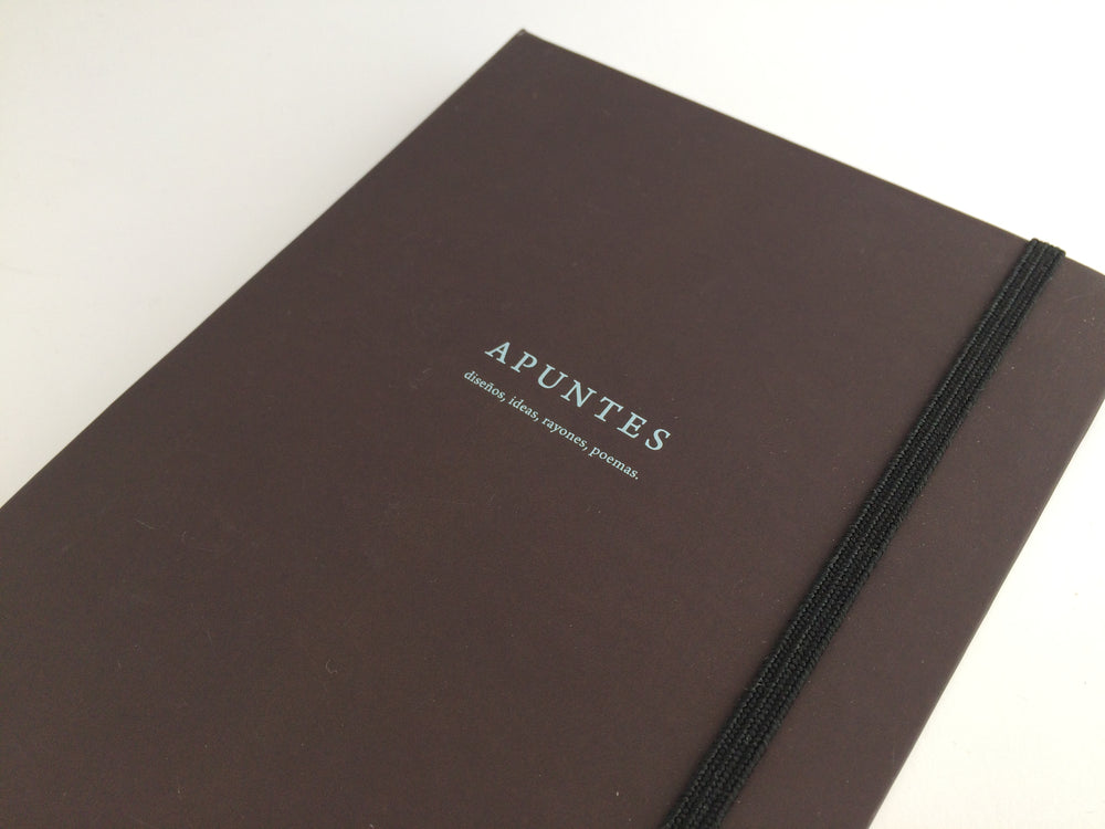 Apuntes Classic Hard Cover Notebook- Chocolate/Celeste