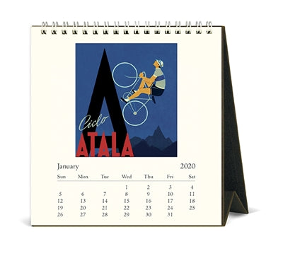 Cavallini & Co. 2020 Desk Calendar- Vintage Bicycles
