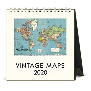 Cavallini & Co. 2020 Desk Calendar- Vintage Maps