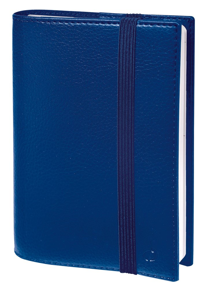 Quo Vadis 2020 Life Noted Weekly & Monthly Planner- Grained Faux Leather Kali Blue