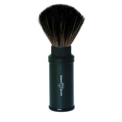 Edwin Jagger Black Travel Shaving Brush (Black Synthetic)