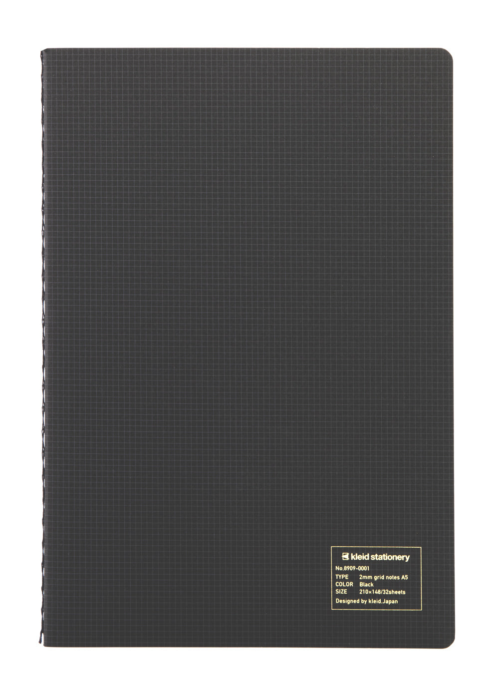 Kleid 2mm Grid Notes A5- Black