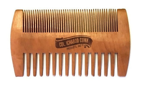 Colonel Conk Double-Sided Peach Beard Comb