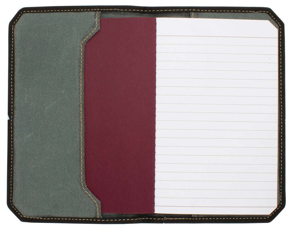 Franklin Christoph 5.3 Pocket Notebook Cover - Ashen Grey Canvas