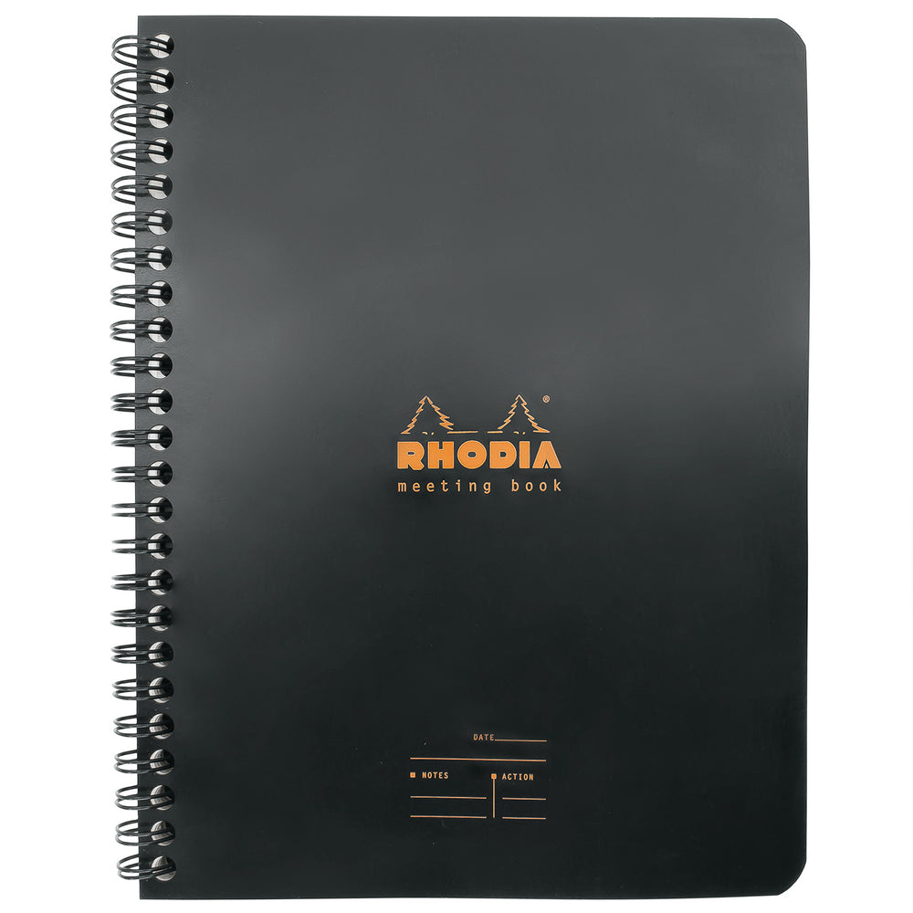 Rhodia A5 Meeting Book- Black