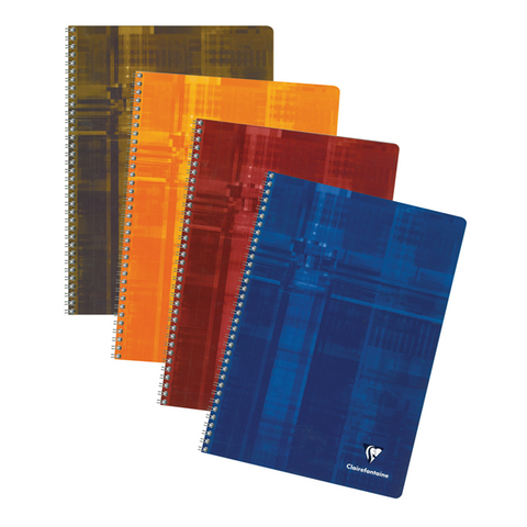 Clairefontaine 68141 Classic Side Wirebound 8.25x11.75 French Ruled 50 Sheets