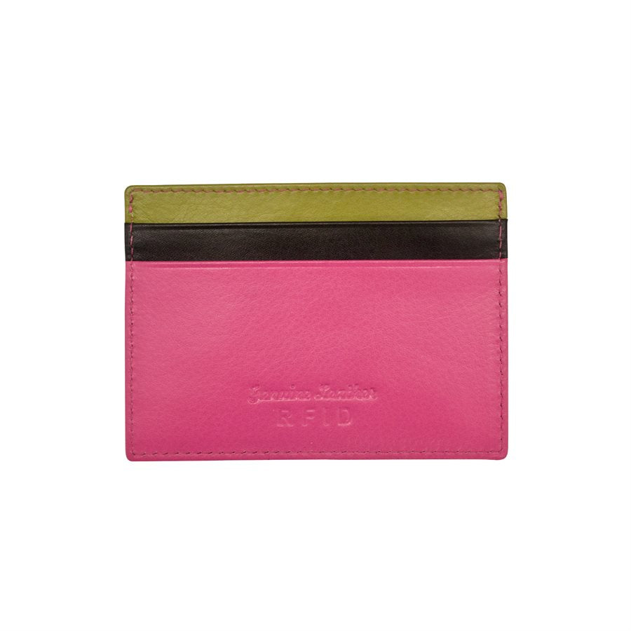 ili New York Leather ID Card Case - Black Brights