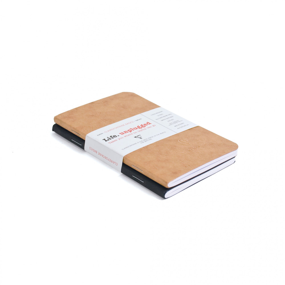 "Clairefontaine Basics Duo Notebooks 3.5"" x 5.5"" (2-Pack)"