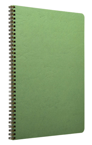 Clairefontaine 781453 Basics Side Wirebound 8 ¼ x 11 ¾ Lined Green