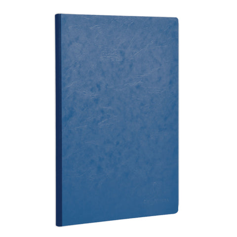 Clairefontaine 791464 Basic Side Clothbound 8 ¼ x 11 ¾ Lined Blue