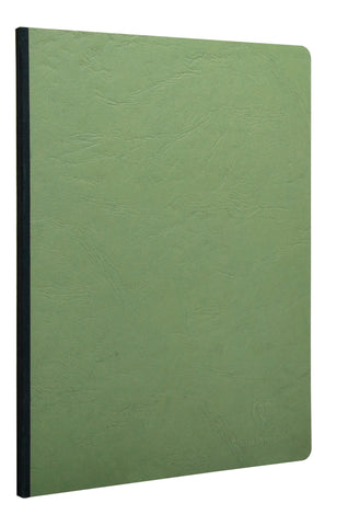Clairefontaine 791463 Basic Side Clothbound 8 ¼ x 11 ¾ Lined Green