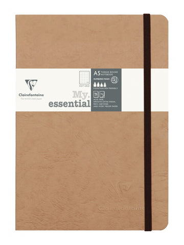 Clairefontaine Basics My Essential A5 Tan Dot