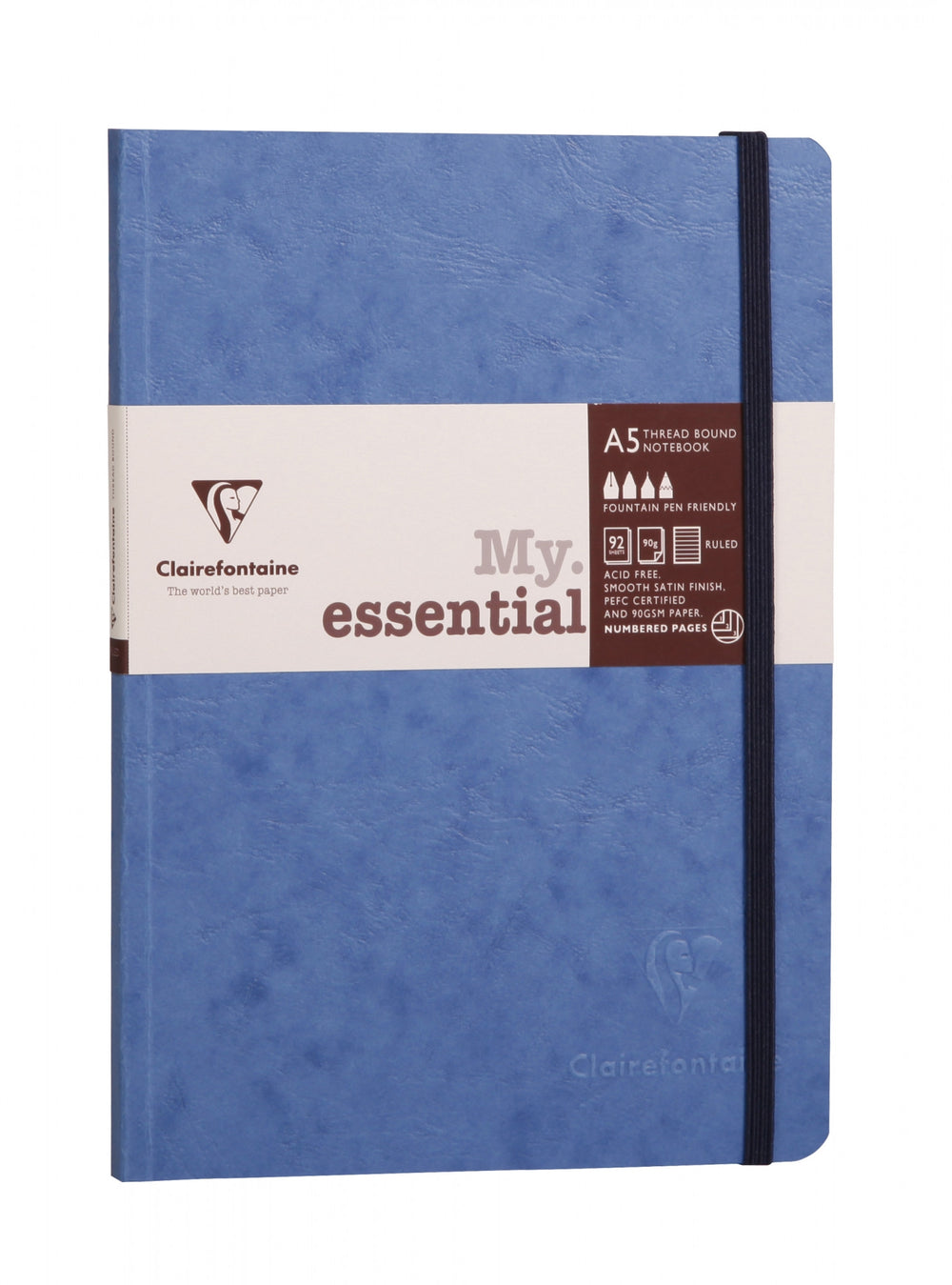 Clairefontaine Basics My Essential A5 Notebook- Blue