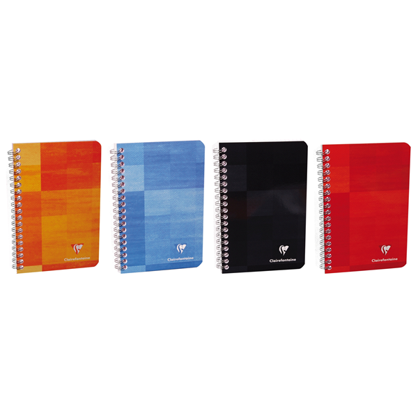 Clairefontaine Classics A5 Side Wirebound Notebook w/ Pocketed Divisions- Lined