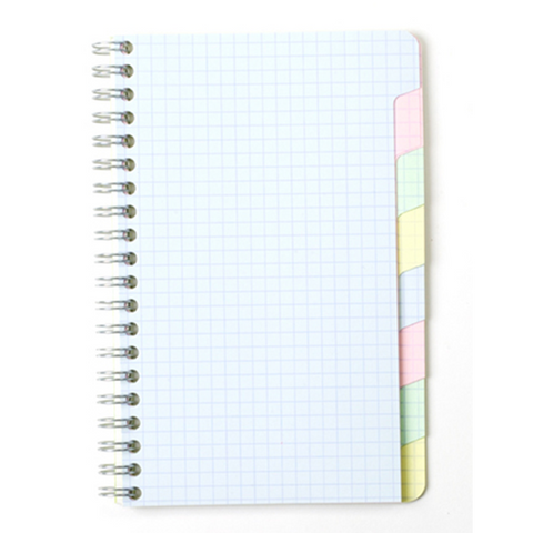 "Clairefontaine 8809 Classic Side Wirebound 4.75"" x 6.75"" Multi-Subject Notebook"