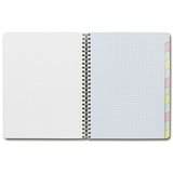 "Clairefontaine Classics Side Wirebound 6¾"" x 8¾"" Multi-Subject Notebook"