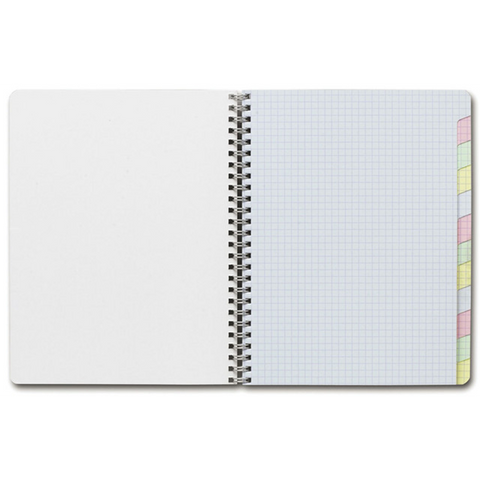"Clairefontaine 8959 Classic Side Wirebound 6¾"" x 8¾"" Multi-Subject Notebook"