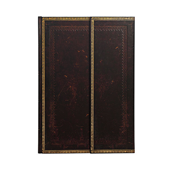 Paperblanks Old Leather Collection- Black Moroccan Grande Wrap