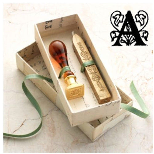 Freund Mayer Murano Glass Handle Square Initial Wax Seal Kit