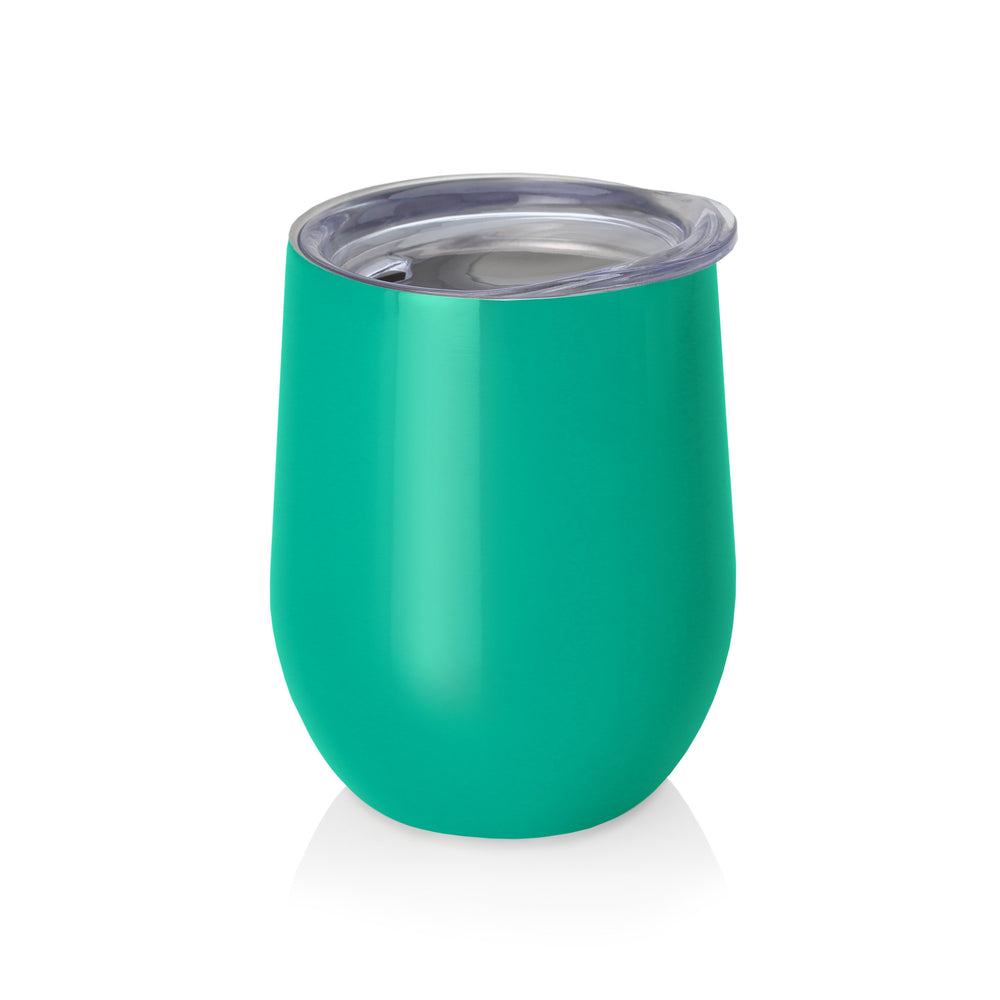 Swig 9 oz Stemless Wine Glass - Turquoise