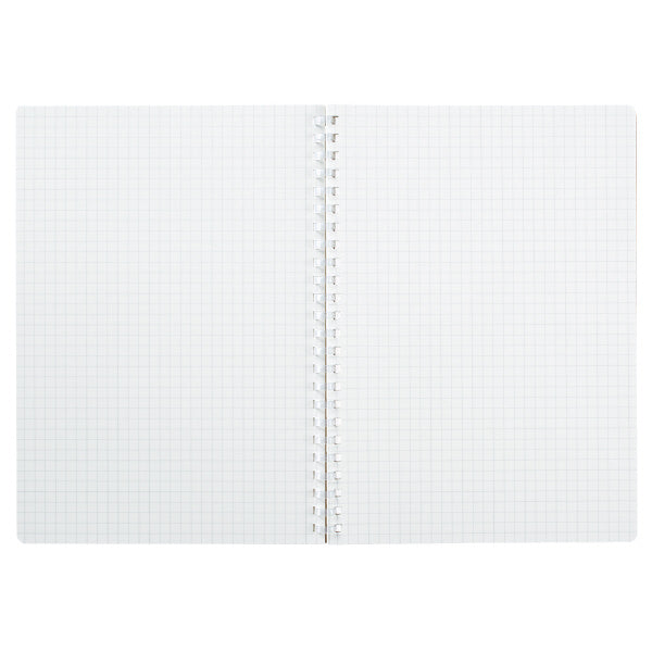 Kokuyo Me A5 Soft Ring Notebook 5mm Grid - White