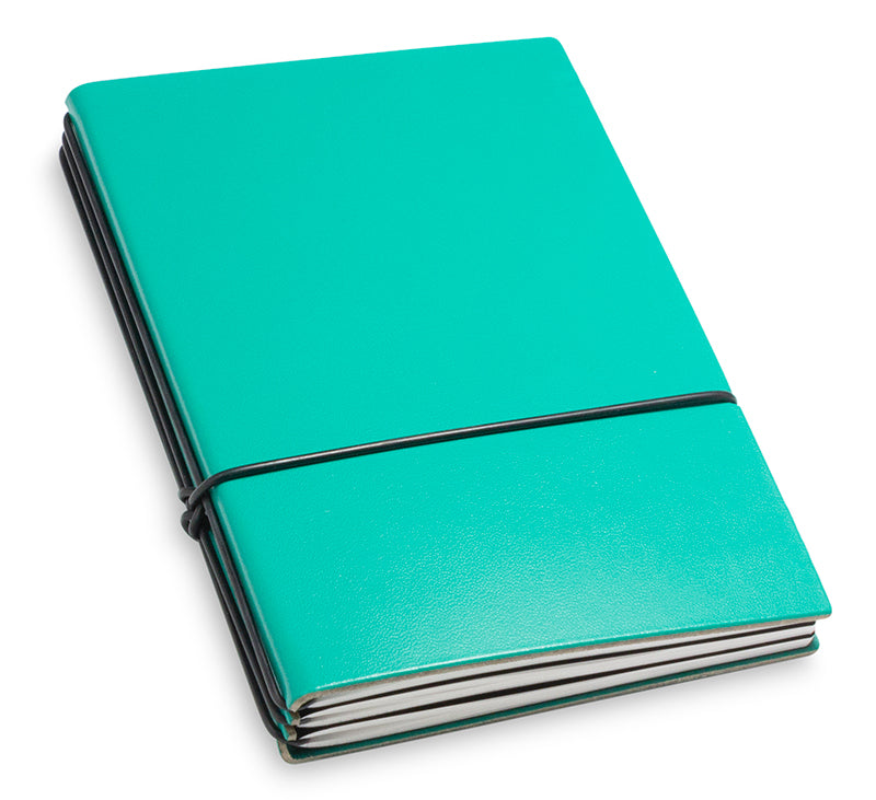 X17 SuperBuch A6 Refillable Leather Notebook- Teal