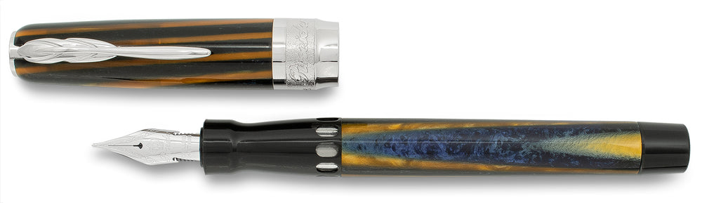 Pineider Arco Blue Bee Fountain Pen Limited Edition 888