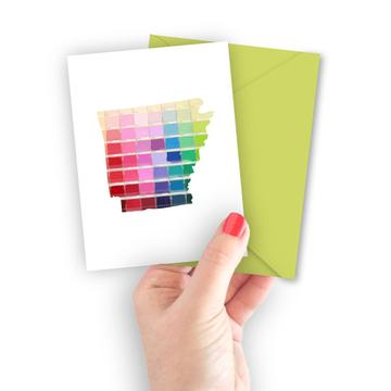 Arkansas Paint Swatch Greeting Card