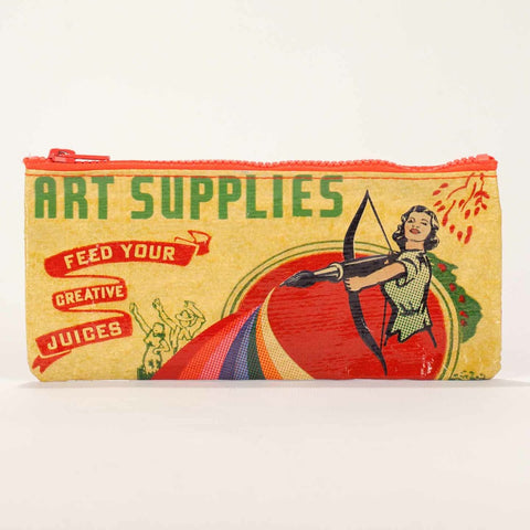 "Blue Q ""Art Supplies"" Pencil Pouch"
