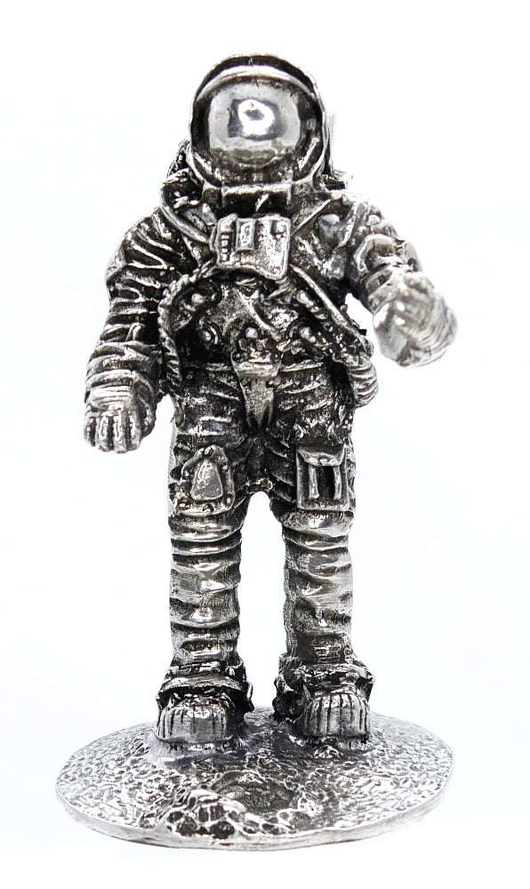 Jac Zagoory Take a Giant Step Astronaut Pewter Pen Holder