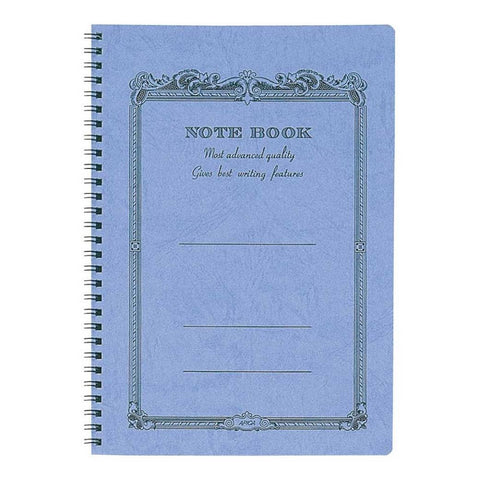 APICA Spiral Bound B5 Notebook- Blue