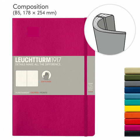 Leuchtturm1917 B5 Composition Notebook - Berry