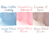 Ferris Wheel Press Ink Charger Set- Aria Palette (Blue Cotton Candy, Strawberry Macaron, Cream of Earl)